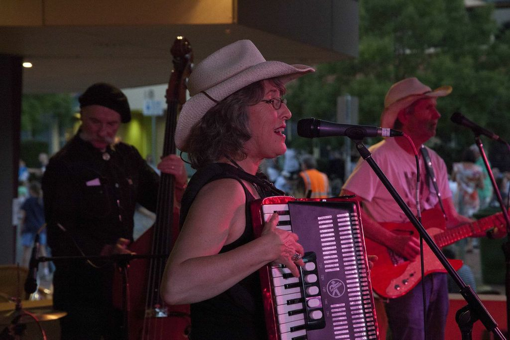 Juanita with her band The Zedeco Cowboys